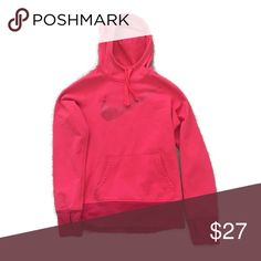 Nike hoodie sweatshirt pullover EUC! Piling inside the hood (not noticeable from outside) and thumb holes! It is like a soft red color Nike Tops Sweatshirts & Hoodies