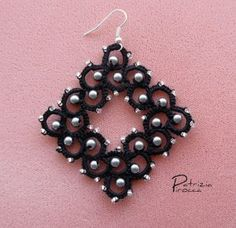Orecchini – parte III - earring pattern with 4 versions for bead placement
