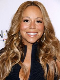 Mariah Carey at the 2012 Project Canvas Art Gala. http://beautyeditor.ca/2014/07/15/blonde-hair-dye-over-highlights