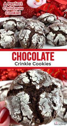 If you are looking for Christmas Gift Ideas … how about these delicious Chocolate Crinkle Cookies? These yummy homemade Crinkle Christmas Cookies would look so pretty in a DIY Christmas gift basket for your coworkers, neighbors, teacher or friends. Christmas Food Gifts, Christmas Gift Baskets, Christmas Sweets, Christmas Baking, Christmas Cookies, Diy Christmas, Xmas, Cookie Baskets, Food Gift Baskets