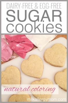 Soft Sugar Cookies with Glossy Royal Icing Sugar Cookies {Dairy-Free, Egg-Free, Natural Color} Dairy Free Egg Free Cookies, Dairy Free Sugar Cookie Recipe, Dairy Free Biscuits, Dairy Free Eggs, Cookie Recipes, Mug Cakes, Egg Free Desserts, Soft Sugar Cookies, Eggless Sugar Cookies