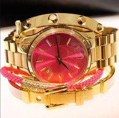Hot pink and gold - Michael Kors #ArmCandy