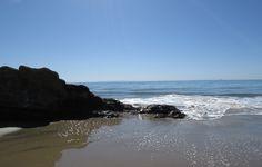 Beach, rocks and waves