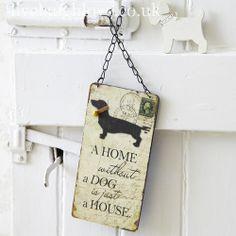 Home & Dog Plaque