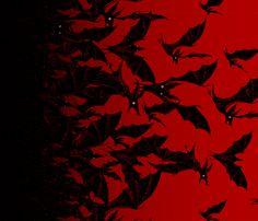 Night Hunter border - ruby fabric by thecalvarium on Spoonflower - custom fabric