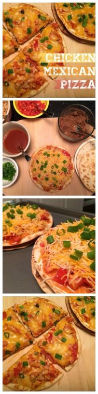 Taco Bell Copycat Chicken Mexican Pizzas! Skinny and healthy version! Love these {The Cookie Rookie}