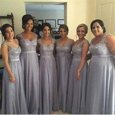 long bridesmaid Dresses, gray bridesmaid dress, lace bridesmaid dress, bridesmaid dress 2016, FS554