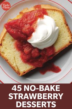 Strawberry Desserts, Strawberry Cheesecake, Cake Recipes, Dessert Recipes, Baked Strawberries, Icebox Cake, Angel Food Cake, Banana Split, No Bake Desserts