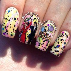 new year by madamluck #nail #nails #nailart