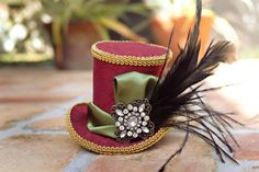 Burlesque themed tea party hat
