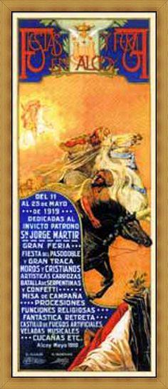 Cartel de fiestas de Alcoy del año 1919 Autor Anónimo