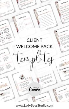 Client Welcome Pack Templates! Is your audience waiting for you to give them an amazing welcome pack but you've been stuck trying to actually make it look great? Our fully-editable Client Welcome Pack Templates will get you there fast and professionally, save you time and most importantly make your clients feel cared for! Check it out now! Business Quotes, Business Tips, Online Business, Pinterest For Business, Be Your Own Boss, Make Money Blogging, Getting Things Done, Boss Lady, Save Yourself