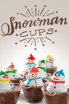 Make a snowman even if it isn't snowing this holiday season. Whip up our easy Snowman Cups with the kids.