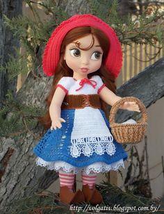Алины игрушки: Кукла Белль Disney Animator в образе Красной Шапоч...