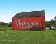 For those of you who love old advertising and old barns, this photo print is for you!  Get both with the Dr Pepper Barn, now available on my Etsy online shop. I ship worldwide.    Dr Pepper Barn Photo  Rustic Fine Art Wall by AnneFreemanImages  ~ Anne Freeman Images ~ Prints to Make you Smile ~ www.etsy.com/shop/AnneFreemanImages