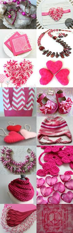 Hot Pink Love by Sylvia Swasey on Etsy--Pinned with TreasuryPin.com