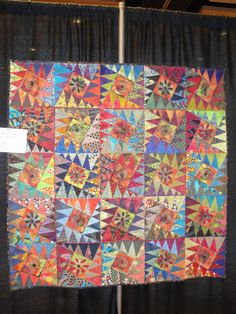 This is fun. Karen Stone quilt on display at Lancaster Quilt Show 2012