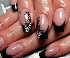 black french nail design