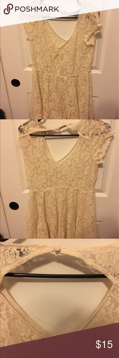 American Eagle Lace Dress Cute lace dress from American Eagle, see through, no tags but never worn, size large but could fit medium, has cute back cutout American Eagle Outfitters Dresses Midi