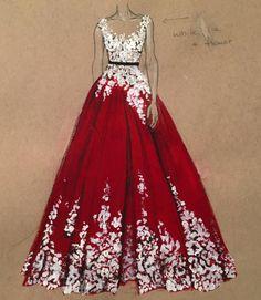 Những bộ váy cô nàng nào cũng mong ước được mặc trong đời được vẽ bởi nhà thiết kế thời trang đến từ Dubai 3Alya :) ...