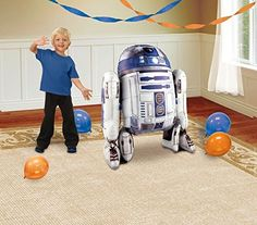 1 X Star Wars R2D2 AirWalker Foil Balloon by Anagram >>> Details can be found by clicking on the image.