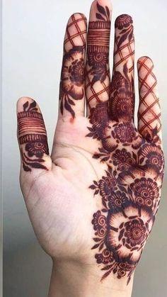 Modern Henna Designs, Floral Henna Designs, Latest Bridal Mehndi Designs, Henna Art Designs, Mehndi Designs For Beginners, Mehndi Design Pictures, Wedding Mehndi Designs, Mehndi Designs For Fingers, Dulhan Mehndi Designs