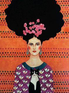 Por amor al arte: Hülya Özdemir Female Portrait, Portrait Art, Female Art, Portraits, Portrait Paintings, Art Paintings, Abstract Portrait, Art And Illustration, Painting Inspiration