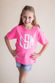 Back to School Monogram Tees for Kids! Love this personalized look for Fall