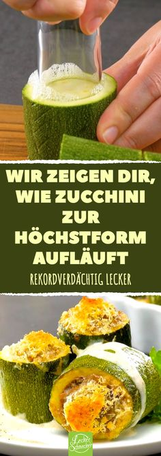 Wir zeigen Ihnen, wie Zucchini am besten schmeckt - New Site Summer Recipes, New Recipes, Cooking Recipes, Best Spaghetti Sauce, Zucchini Gratin, Slow Cooker Pork, Ground Beef Recipes, Vegetable Recipes, Finger Foods