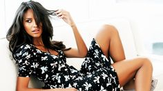 emanuela de paula model women brunette dress lying down legs black dress HD Wallpaper Desktop Background
