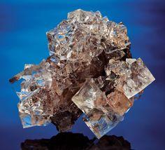 Minerals:Museum Specimens, WATER-CLEAR FLUORITE ON PYRRHOTITE. ...