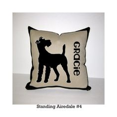 AIREDALE TERRIER - Dog Breed Pillow - I WANT THISSSS!