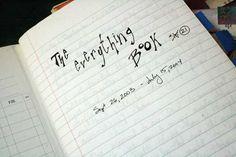 """Start an """"Everything Book"""""""
