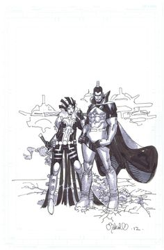 chris bachalo rough pencils | For Sale - Chris Bachalo Warbird & Gladiator pin-up Wolverine & the X ...