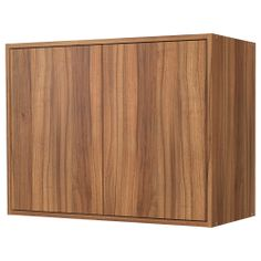 FYNDIG Bovenkast met deuren - middenbruin/houtpatroon - IKEA