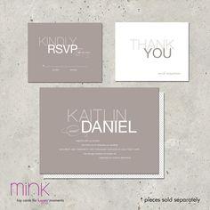 "wedding invitations - ""Ebb & Flow"". $96.00, via Etsy."