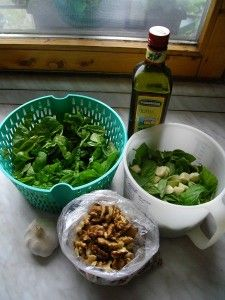 Pesto1 Pesto, Green Beans, Chicken, Vegetables, Food, Essen, Vegetable Recipes, Meals, Yemek