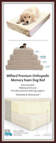 Milliard Premium Orthopedic Memory Foam Dog Bed & Anti-microbial Waterproof Cover Review.