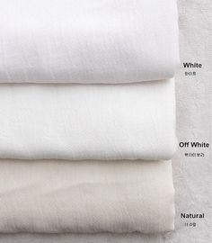Double Gauze Fabric in 3 Colors By The Yard