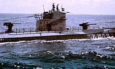 German sub at sea.
