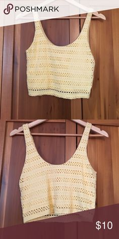 Crop top Pretty yellow crop top tank, worn only once Eight Sixty Tops Crop Tops