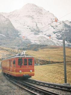 Train to Jungfrau Peak in Lauterbrunnen Switzerland - Entouriste Switzerland Itinerary, Europe Train, Jungfraujoch, Dream City, By Train, Travel Aesthetic, Beautiful Places To Visit, Train Travel, Travel Photography