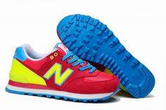 Joes New Balance 574 WL574RYC Small Pretty Waist Red Yellow Blue Womens Shoes