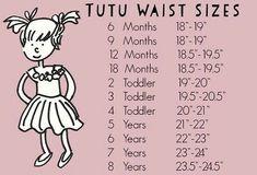 Tutu/Skirt waist sizes