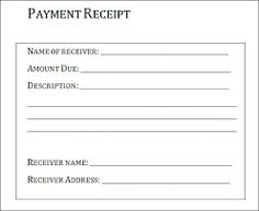 payment receipt samples receipt for payment - Sales Report Template