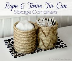 Rope  Twine Tin Can Storage Containers…