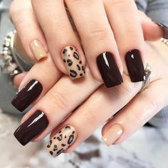 Go through our collection of the best animal print nail art ideas, and get those nails painted now. Cheetah Nail Designs, Leopard Print Nails, Gel Nail Art Designs, New Year's Nails, Hot Nails, Firework Nail Art, Animal Nail Art, Gold Glitter Nails, Nail Swag