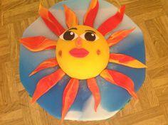 Sonnentorte für Victoria's Geburtstag / Sun cake for Victoria Sun Cake, Tweety, Pikachu, Victoria, Fictional Characters, Art, Pies, Backen, Craft Art