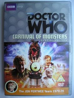 """Carnival of Monsters"" is an adventure of the tenth season of ""Doctor Who"" classic series, which aired in 1973 featuring the Third Doctor and Jo Grant. It's a four parts adventure written by Robert Holmes and directed by Barry Letts. Image from the British Special Edition of the DVD. Click to read a review of this adventure!"