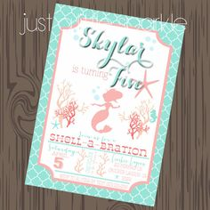Mermaid Invitation p